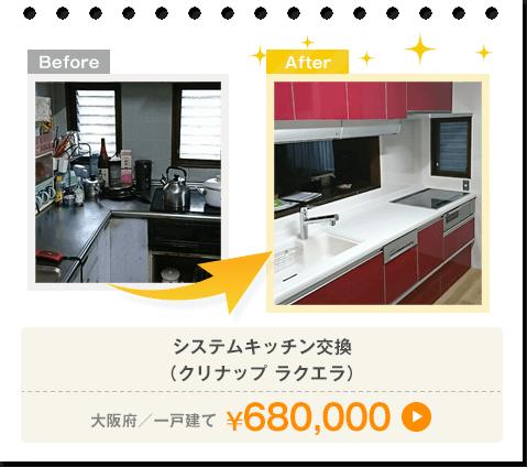 クリナップ ラクエラ/大阪府/一戸建て/¥680,000