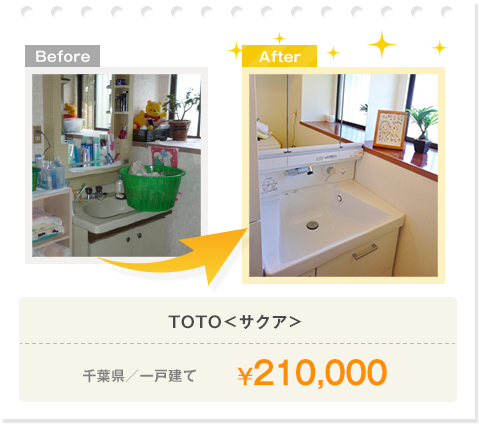 TOTO<サクア>/千葉県/一戸建て/¥210,000